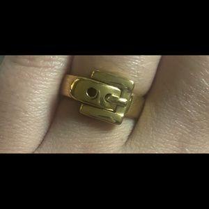 Michael Kors Gold Buckle Ring